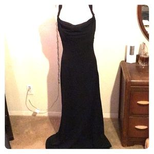 Black long formal gown size 8